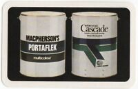 Playing Cards 1 Single Card Old MACPHERSONS PORTAFLEX Paint Tins Advertising Art