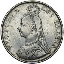 More details for 1890 double florin - victoria british silver coin