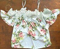 Charlotte Russe Floral Multi-Color Top/Blouse (Women's US Size XS) ~ NEW