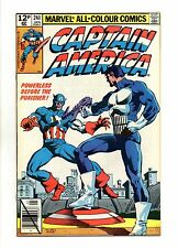 Captain America Vol 1 No 241 Jan 1980 (VFN) Punisher apps, Frank Miller Cover