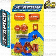 Apico Bling Pack Orange Blocks Cap Plugs Clamp Cover For KTM EXC/F 350 2014-2015