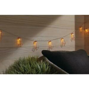 12 ft. 10-Light Battery Operated Metal Indoor Integrated LED String Lights by Ha
