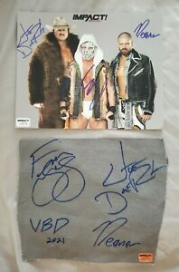 Violent By Design signed IMPACT Wrestling Photo & match-used PPV canvas swatch