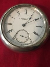 "E.Howard Pocket Watch , 18S, ""N""48756, Serviced , 15 J, Silverode Case, Runs Exc"