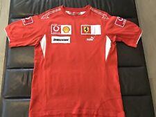 Ferrari Puma F1 Formula 1 red T-shirt shirt M Leclerc Vettel Schumacher Medium
