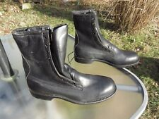 "1996 Cove Shoe Company / Black Leather 8 "" Boots / Deadstock / Us Men size 12 A"