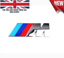 BMW M SPORT BADGE EMBLEM - trunk wing side boot m3 m4 m5 1 3 5 6 series - UK