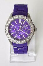 Esprit Damen Uhr Dolce Vita lila Kunststoff Steine Datum Wochentag ES105172004