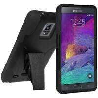 AMZER HYBRID CASE COVER WITH KICKSTAND FOR SAMSUNG GALAXY NOTE 4