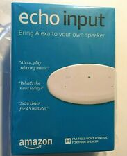 Brand New Echo Input – Bring Alexa to your own speaker- White Brand New, Sealed