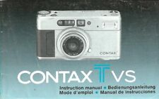 CONTAX Tvs 35mm CAMERA OWNERS INSTRUCTION MANUAL -CONTAX TVS