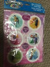 Light Up Yazzles Sticker Badges Party Favors 6 pc set NEW Disney Princess