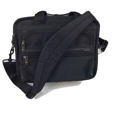 TUMI Black Nylon Leather Expandable Briefcase Laptop Bag 26121D4 Messanger MINT