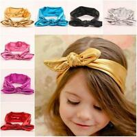 Toddler Head Wrap Infant Gold Rabbit Ear Turban Bowknot Hairband Baby Headband