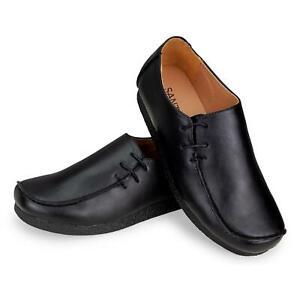 New Mens leather PU Lace Side Classics Twist Black Pu Crep UK Size 6 7 8 9 10 11