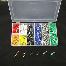 800pcs Assorted Crimp Terminal Insulated Electrical Wire Connector Set Case Kit