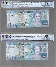 CAYMAN ISLANDS $ 1 (2010) P-38a - UNC  - PMG CERTIFIED 68 - CONSECUTIVE NOTES