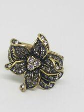 HEIDI DAUS Clear Crystal Flower Ring Size 10
