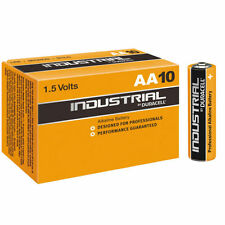 10 X Duracell Industrial AA Batteries Alkaline 1.5v Lr6 Mn1500 Battery