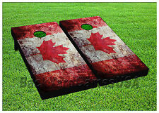 Vinyl Wraps Cornhole Board Decals Canada Flag Vintage Distressed Stickers 1288