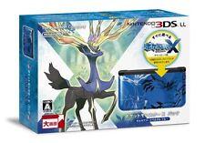 NEW Nintendo 3DS LL Pocket Monster X pack Zeruneasu-Iberutaru Blue Japan F/S
