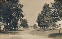 KEZAR FALLS ME – Main Street Real Photo Postcard rppc - 1909