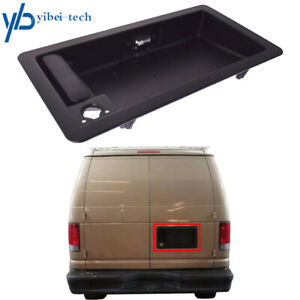 Rear Cargo Door Handle & License Plate Tag Bracket For Ford Van E150 E250 E350