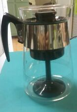 Vintage Corning Heat Proof Glass Coffee Pot Percolator 4 - 6 Cup Excellent