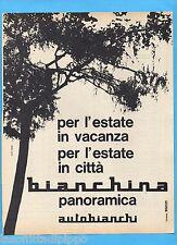 QUATTROR963-PUBBLICITA'/ADVERTISING-1963- AUTOBIANCHI BIANCHINA PANORAMICA (C)
