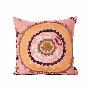 "21"" x 21"" Pillow Cover Suzani Pillow Cover Vintage Fast Shipment With UPS 07741"