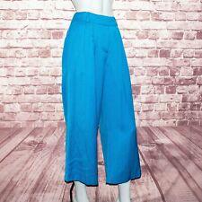 J.CREW Collection $178 Women's Cropped Wide Leg Pants Blue Size 4