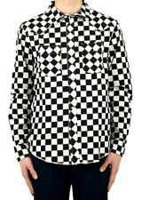 Stussy Black Long Sleeve Checker Western Tee Shirt Size X-Large