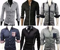 New Designed Men's Casual Slim Dress Shirts Top Collection UK S-XXL (UK Post)