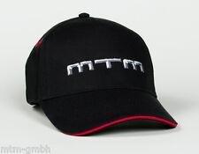 Original MTM 5 Panel Cap Basecap Mütze Kappe Logo Schwarz Rot Emblem Audi VW Neu