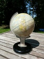 LOVELY SMALL VINTAGE MID CENTURY CHAD VALLEY DESK TOP TIN PLATE GLOBE.