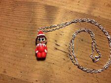 necklace Elf Christmas Xmas Handmade Cute Gift