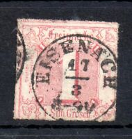 Germany Thurn & Taxis 1862 1sgr rose fine used Eisenach WS13399