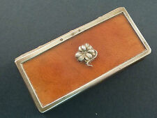 CONTINENTAL SILVER MOUNTED MINIATURE NOTEBOOK