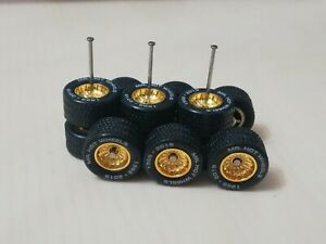 Hot Wheels 1/64 Rubber Wheels Real Riders Convention Car's Wheels 12mm 3 sets