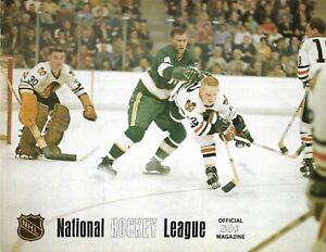 1968-69 Minnesota North Stars-Kings Program Stars Get Past LA + 2 Stubs!!