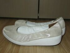 Womens FITFLOP Silver Leather Shoes Flats Size EU 38 / UK 5 Great Condition!!!