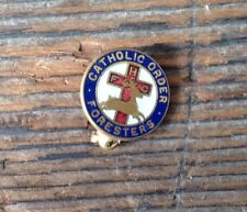 Vintage Catholic Order of Foresters Enamel Lapel Pin