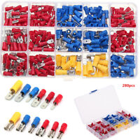 280Pcs ELECTRICAL WIRE TERMINALS ASSORTMENT INSULATED CRIMP CONNECTORS SPADE KIT
