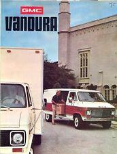 GMC Vandura vans 1975 USA market sales brochure