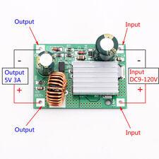 DC 9V 12V 24V 36V 48V 72V 84V 120V to 5V 3A Step Down Power Supply Buck Module