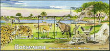Botswana 2019 Wetlands Series #5 Nxai Pans Birds Animals Fauna Miniature sheet