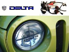 """Delta 7"""" HID Headlight Kit w/ Bulbs, Ballasts, Wiring, Replaces 6014/H6017/H6024"""