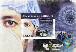 Djibouti Medical Stamps 2020 MNH Corona Frontline Health Workers Doctors 1v S/S