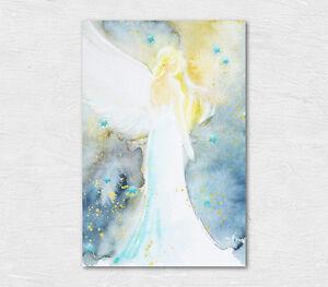 """Engelbild Kunstfoto """"Beschützer der Sterne"""" Schutzengel Bild für Schlafzimmer"""