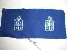 USAF JEWISH CHAPLAIN BADGE -  1 PAIR ON BLUE TWILL